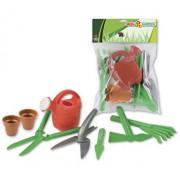 Set de joaca Androni pentru gradinarit si nisip cu accesorii sapat si sadit