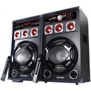 Активни Тонколони DJ-220K с Вграден Усилвател, два Безжични Микрофона, FM радио, SD/USB, 2x60W