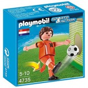 PLAYMOBIL Netherlands Soccer Player Toy