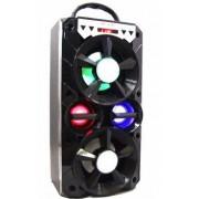Hordozható hangszóró Bluetooth multimédia lejátszó akkumulátorral LED hangszóróval Mp3,FM-Rádió, 3,5 jack, USB, Micro SD kártya - MS-260BT