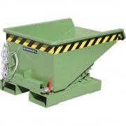 Mini-Kippbehälter für Späne Volumen 0,15 m³ grün RAL 6011