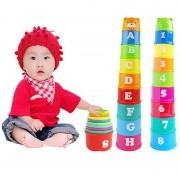 Jouet Enfants Bébé Gobelets En Plastique Arc-En-Ciel Empilement Jouets Éducatifs Lettres Numéros
