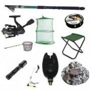 Set lanseta pescuit telescopica 3.6m mulineta CFC1000 pentru Pescuit Sportiv si accesorii