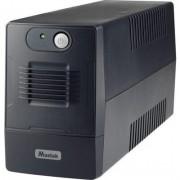 UPS MUSTEK PowerMust 800EG, 850VA/480W, Schuko (шуко), Line-Interactive - 800-LED-LIG-T10
