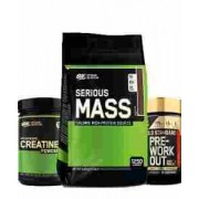 optimum nutrition serious mass plus creatine and pre 5.5 kg
