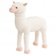 vidaXL Stojeća plišana igračka alpaka bijela XXL