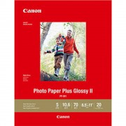 Canon PAPEL Canon PLUS GLOSSY II PP-301 8.5X11 20 HOJAS