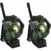 Set 2 ceasuri Walkie Talkie pentru copii baterie inclusa model camuflaj Verde cu Negru SHO1732