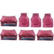 Ajabh High Qulity NEW COMBO OF 4PCS HIGHT SAREE 3p blou COVER GIFT ORGANIZER TRAVLING BAG KEEP SAREE\BLOUSE\SALWAR\JEANS\TOP ETC.(Maroon)
