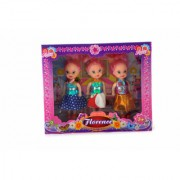 KidzFan Fashion doll Tiny Size Set of 3 Dolls