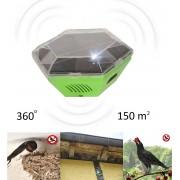 Aparat mobil de alungat păsări (rândunele, pescaruși, porumbei), alimentare solară, 150 de mp, Gardigo