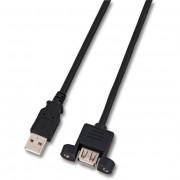 Cavo USB 2.0 A Maschio/A Femmina da Pannello 1 m