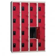 PROVOST Armoire vestiaire multicases 4 colonnes 4 cases à monter