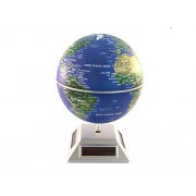 Glovion Eco Solar Powered Auto Spinning Rotary World Globes Self Rotating Globe Model (5.5' Inch &Dark Blue World...