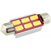Sofita rendszám világítás, 6 led, 42 mm, 200 Lumen, 5730 chip, 2W, hideg fehér