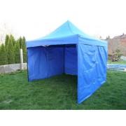 Záhradný DELUXE nožnicový párty stan + bočné steny - 3 x 3 m modrá