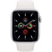 Apple Watch Series 5 44mm (GPS Only) Aluminium Case Silver Sport Band Alb