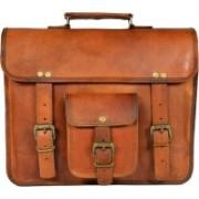 Adimani Leren Vintage Messenger Bag(Brown, 20 L)