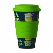 Ekologický hrnek s víčkem 400 ml Tea Time