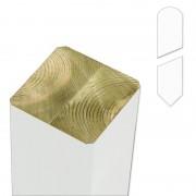 Plus Danmark Paal vuren 9 x 9 cm wit (237 cm) met gepunte en afgeronde kant geschaafd