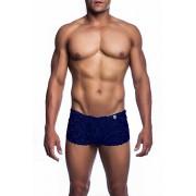 MaleBasics MOB Eroticwear Lace Mini Boy Short Boxer Brief Underwear Navy MBL01