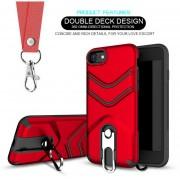 Funda Case Iphone 8 / Iphone 7 Uso Rudo Heavy Duty- Rojo