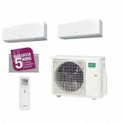 General Fujitsu Climatizzatore/Condizionatore Fujitsu General Dualsplit Parete AOHG18KBTA2+ASHG12KGTB+ASHG12KGTB