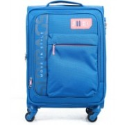 Skybags Vanguard 4W expandable Soft Trolley 58 CM (Sky Blue) Expandable Cabin Luggage - 22 inch(Blue)