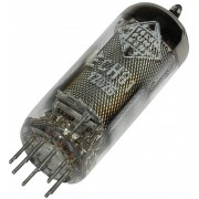 Tub electronic triodă-heptodă ECH 81 = 6 AJ 8, 9 pini