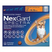 Nexgard Spectra For Xsmall Dogs 4.4-7.7 Lbs (Orange) 3 Pack