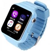 "Smartwatch iUni V8K, 1.54"", GPS, Bratara silicon (Albastru)"