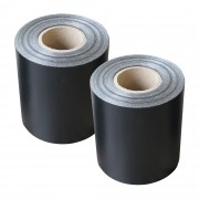 Комплект от 2 броя фолио за ограда [neu.haus] ®, предпазва от любопитни погледи, вятър или звукове, 19 cm x 35 m / 7m², Черно, с UV защита