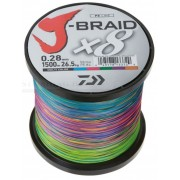 Fir impletit DAIWA J-BRAID MULTI-COLOR 8 BRAID 1500M 0, 18MM