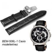BEM-506L-1 Casio fekete bőrszíj