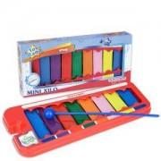 Детска играчка, Ксилофон с 8 цветни метални пластини, 193099