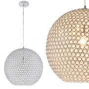 [lux.pro]® Dekoratívní designové závěsné svítidlo / stropní svítidlo - chrom-krystal(1 x E14)