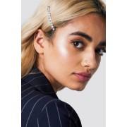NA-KD Accessories Small Rhinestone Hairclip - Hair Accessories - Silver