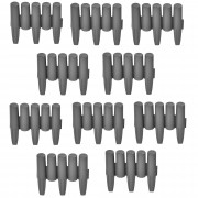 Комплект от 10 броя елементи за градински бордюр [casa.pro]® 24 x 27,5 cm, Сив