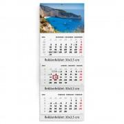 T070N, 3 tömbből álló 3 havi speditőr naptár - Tenger fejrésszel