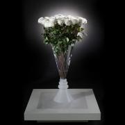 Aranjament floral VASE SERENA trandafiri albi, 125cm