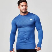 Myprotein Seamless Long-Sleeve T-Shirt - XXL - Navy