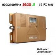 Dual Band 900 / 2100mhz 2G 3G Mobil Signal Booster Repeater Förstärkare