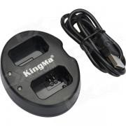 Cargador de bateria Kingma Dual USB para Sony NP-FW50 + Mas - Negro