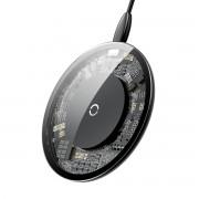 BASEUS Transparent Wireless Charger Pad for iPhone X/8/8 Plus Etc. - Black