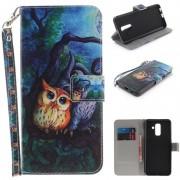 Samsung Galaxy A6+ (2018) Wonder Series Wallet Case - Owls