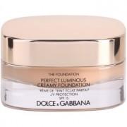 Dolce & Gabbana The Foundation Perfect Luminous Creamy Foundation maquillaje efecto piel seda para iluminar la piel tono No. 110 Caramel SPF 15 30 ml