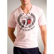 Timoteo Athlete V-Neck T Shirt Pink NM7196P