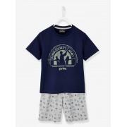 Pijama Harry Potter® estampado azul escuro liso com motivo