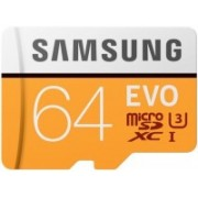 Samsung Evo 64 GB MicroSDXC Class 10 100 MB/s Memory Card(With Adapter)
