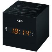 Radio cu ceas AEG MRC 4150 negru, Afisaj LED, port USB, timer